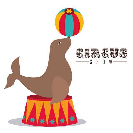 circus animals: Dise�o Circo sobre fondo blanco, ilustraci�n vectorial Vectores