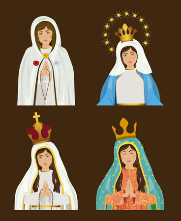 miraculous: Christianity design over brown background, vector illustration Illustration