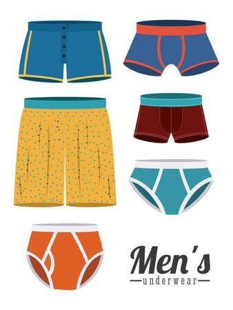 Ondergoed ontwerp op een witte achtergrond, vector illustratie Stock Illustratie