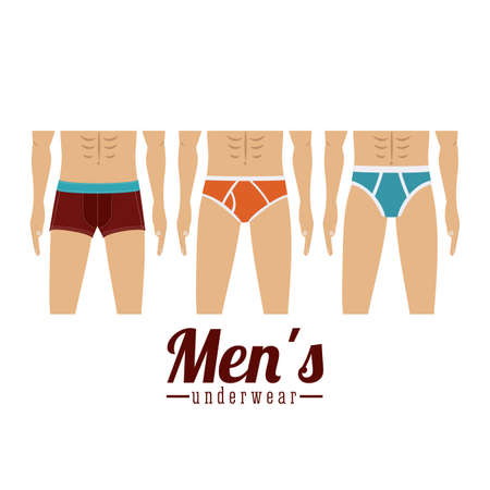Underwear design over white background,vector illustration Vector