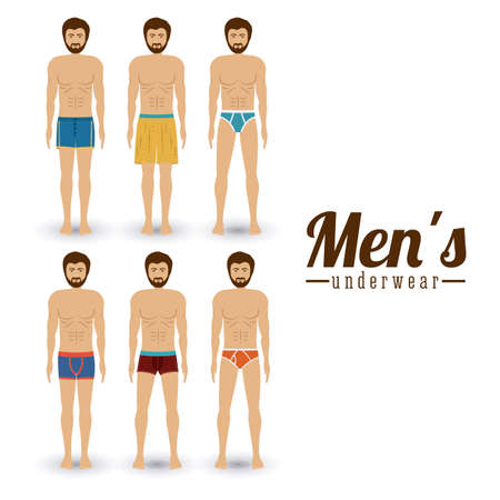 underwear man: conception de sous-v�tements sur fond blanc, illustration vectorielle