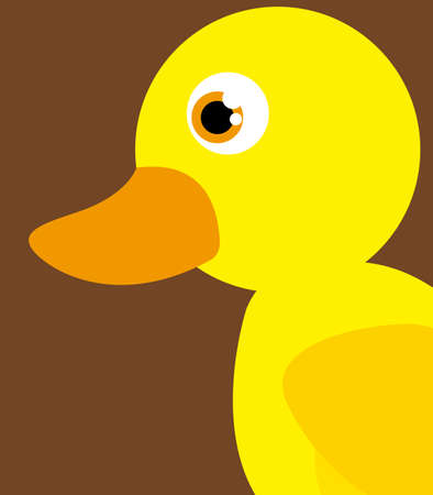 ducky: Animal design over brown background, vector illustration