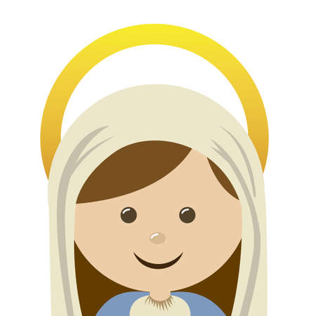 Christianity design over blue background, vector illustration Vector
