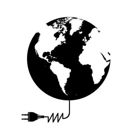 voltmeter: Energy design over white background, vector illustration Illustration