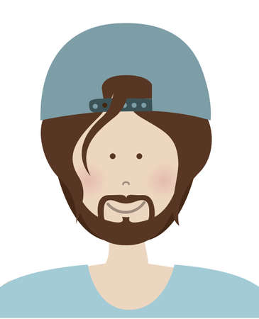 cartoon faces: People design over white background, vector illustration Illustration