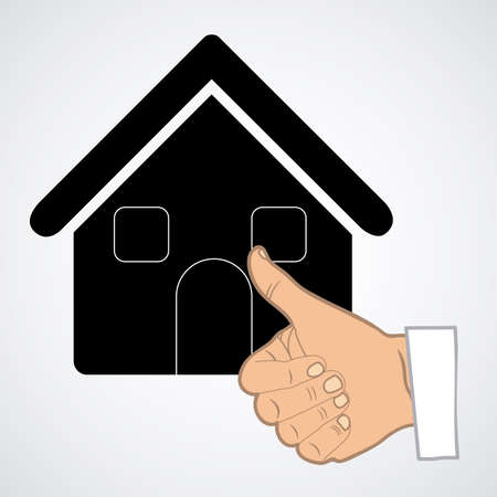 hometown: House design over white background, vector illustration Illustration