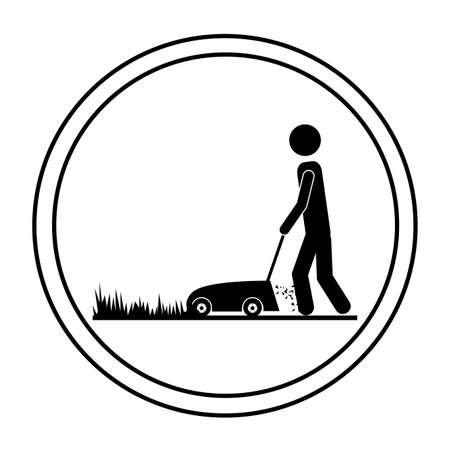 tuinontwerp: Tuin ontwerp op een witte achtergrond, vector illustratie Stock Illustratie