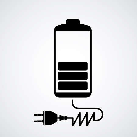 rechargeable: Energy design over white background, vector illustration Illustration