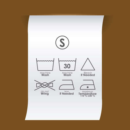 bleach: Label design over brown background, vector illustration