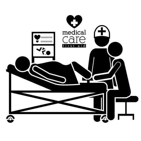 radiography: Medical design over white background, vector illustration Illustration