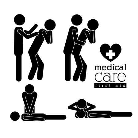 白い背景に、ベクトル イラスト医療設計