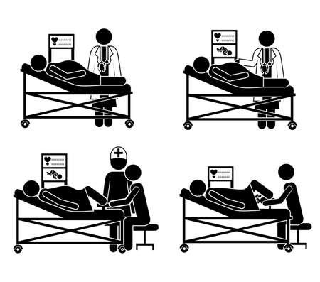 Medical design over white background, vector illustration Vector