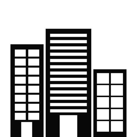 urbanisierung: Urbanes Design �ber wei�em Hintergrund, Vektor-Illustration