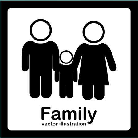 Family design over white background, vector, illustratrion