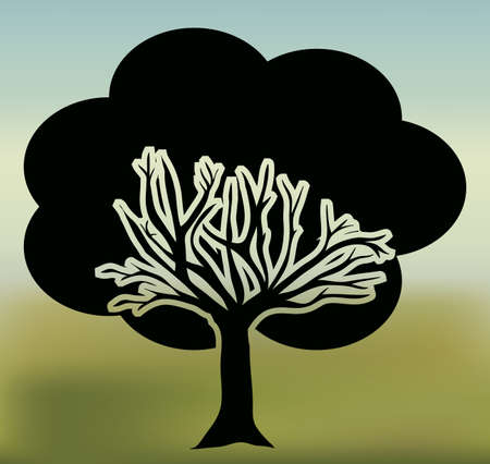 Ecology design blur white background, vector illustration Vector