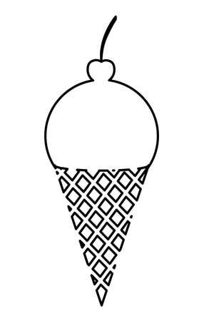 ailment: ice cream over white background, vector illustration