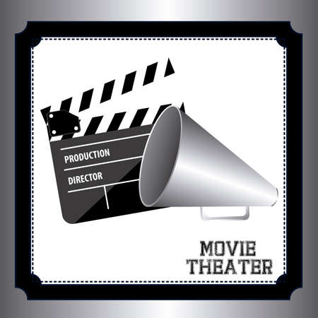 movie theater: movie theater over gray background, vector illustration