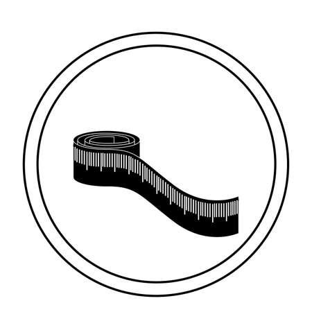 白い背景に、ベクトル図を巻尺  イラスト・ベクター素材