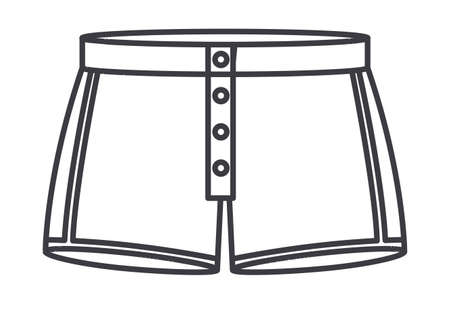 ollection: boxer shorts over white background, vector illustration