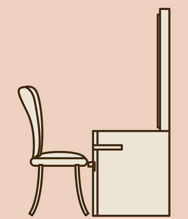 mirrow: Furniture design over white background, vector illustration Illustration