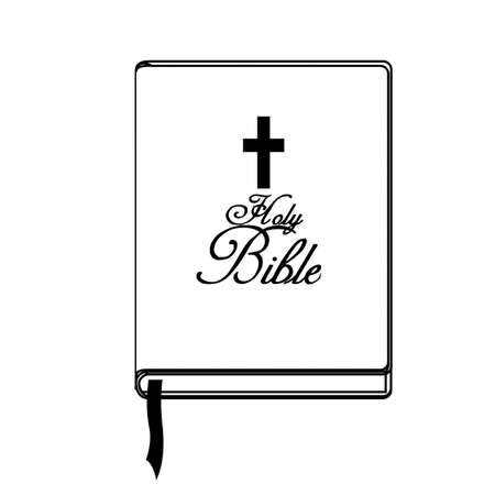 holy book: bible over white background,vector illustration