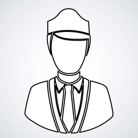 watchman over white background, vector illustration