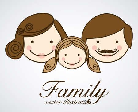 daugther: Family design over white background, vector illustration Illustration