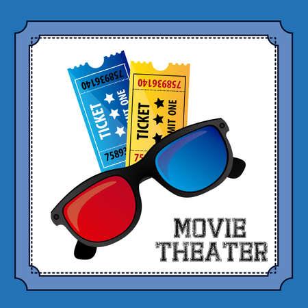 movie theater: Movie Theater over blue background, vector illustration Illustration