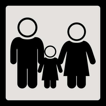 homelike: Family design over white background.