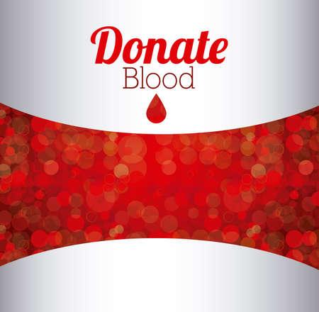 blood donation: Medical design over white background, vector illustration Illustration