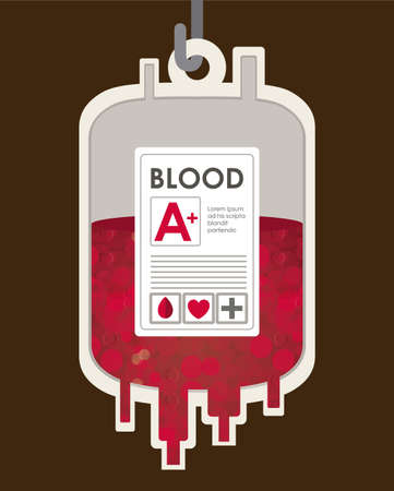 Medical design over brown background, vector illustration Vector