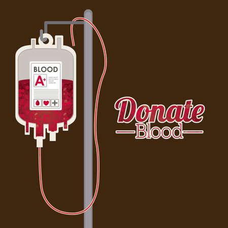Medical design over brown background, vector illustration