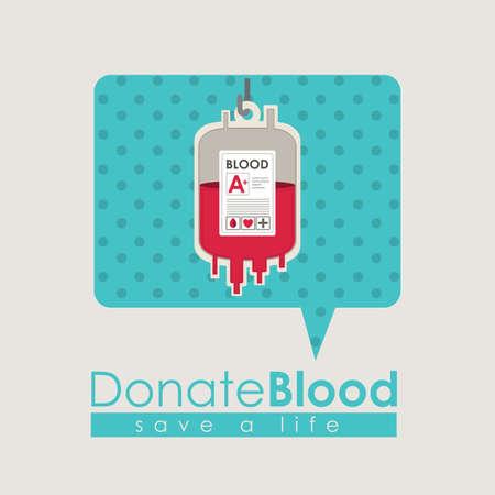 blood bag: Medical design over beige background, vector illustration Illustration