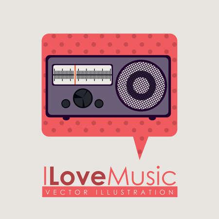 Music design over beige background, vector illustration