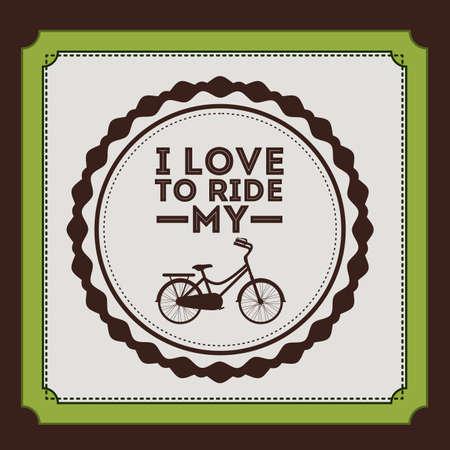 Bike design over brown background, vector illustration Vector
