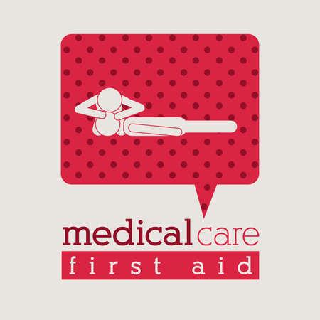 Medical design over beige background, vector illustration Illustration