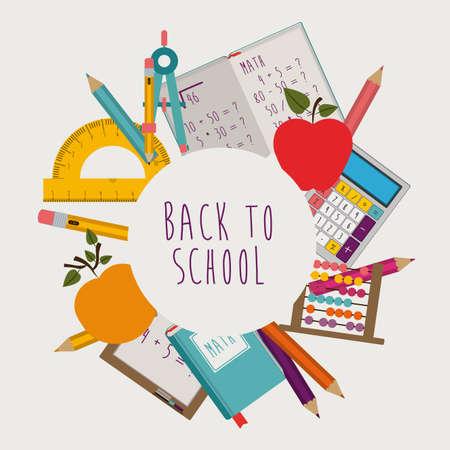 Education design over white background, vector illustration Vettoriali