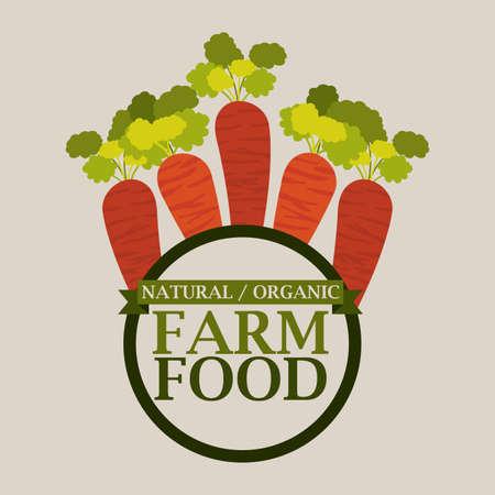 Farm design over beige background, vector illustration Vector