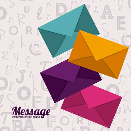 envelope: Email design over white background, vector illustration Illustration