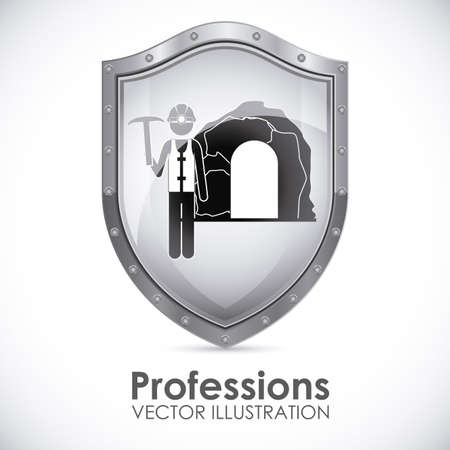 Profession design over white background, vector illustration Vector