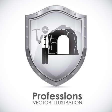 Profession design over white background, vector illustration Vector