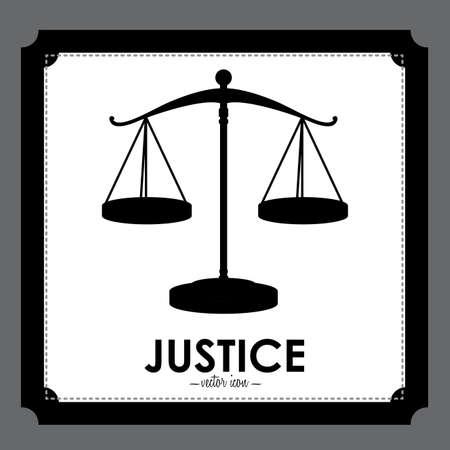 tribunal: Law design over gray background, vector illustration