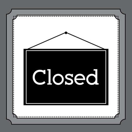 road closed: Icon design over white background, vector illustration