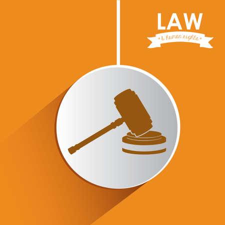 tribunal: Law design over white background, vector illustration
