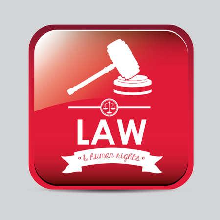 Law design over white background, vector illustration