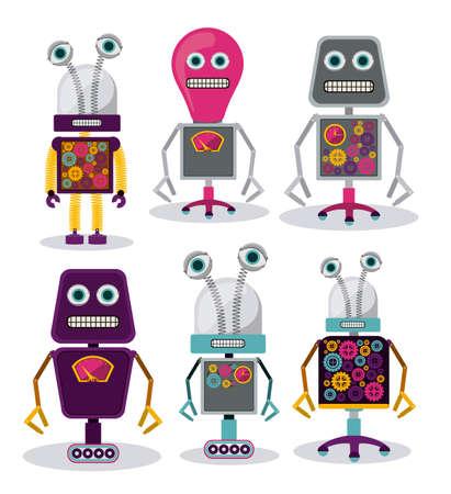 Robot design over white background, vector illustration Vector