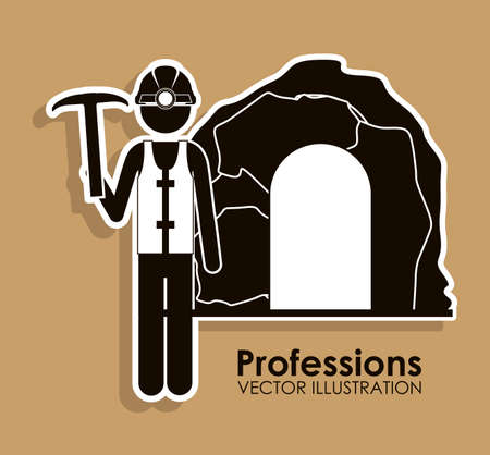Profession design over beige background, vector illustration Vector