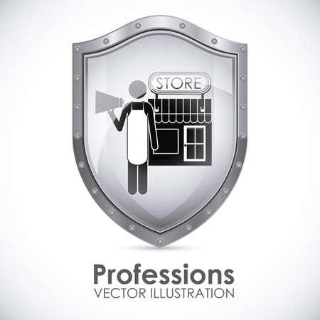 grocer: Profession design over white background, vector illustration Illustration