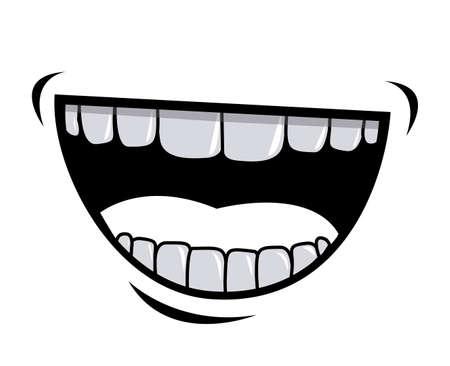 cartoon mouth: Cartoon design over white background, vector illustration