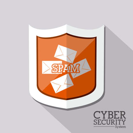 Security design over gray background, vector illustration Vector